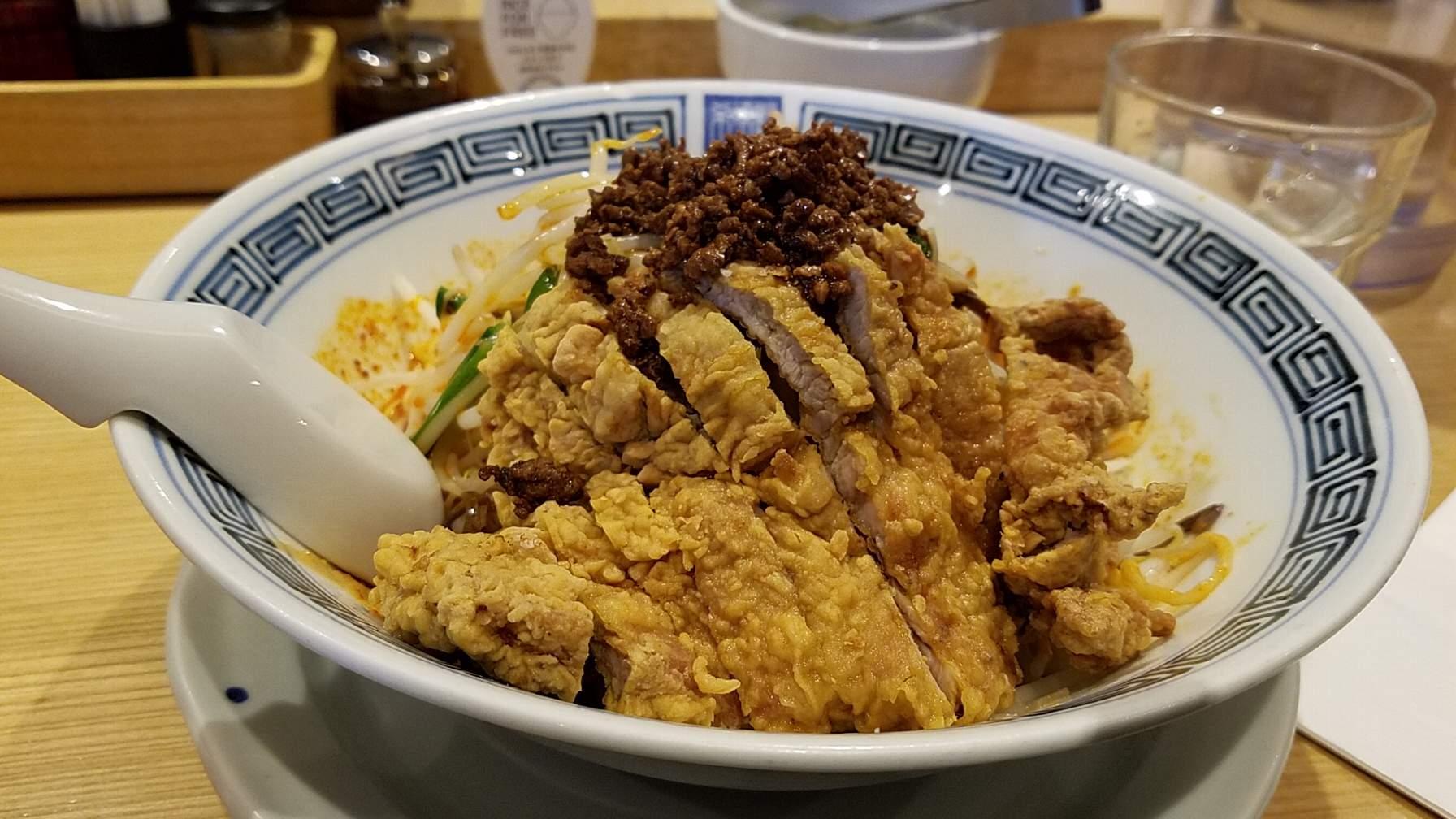 希須林担々麺屋赤坂店の汁無し担々麺